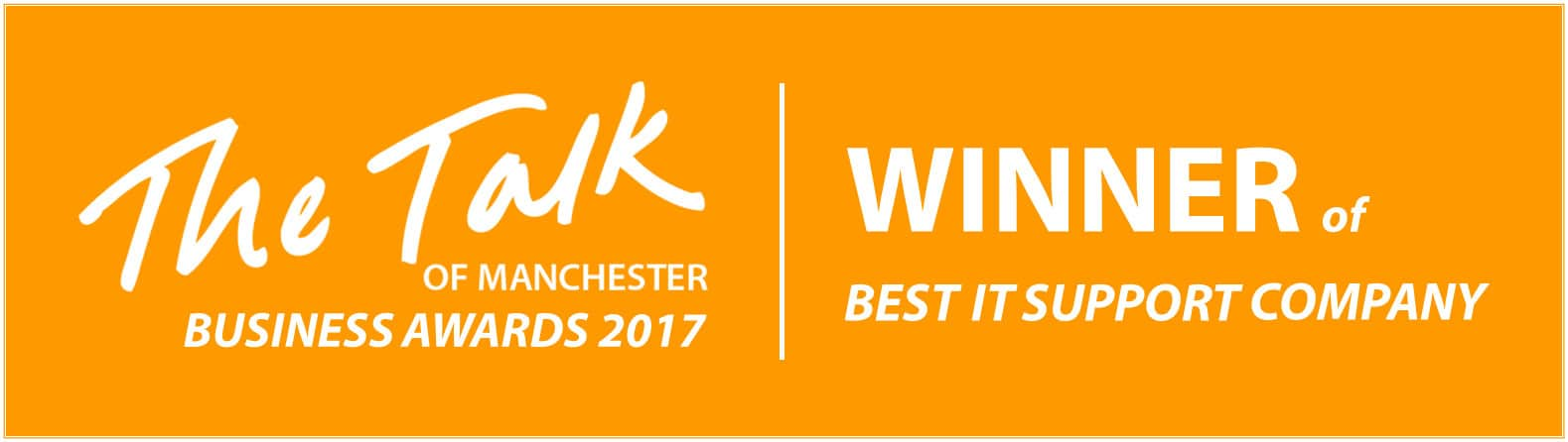 The Talk Business Awards 2017 - Winner - Best IT Support Company